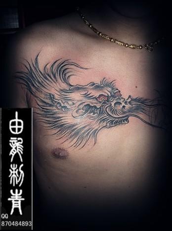 龙头纹身图案大全; > 中图