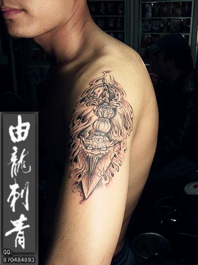 降魔杵纹身 现代分享展示