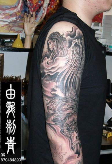 阿花臂龙纹身手稿分享展示