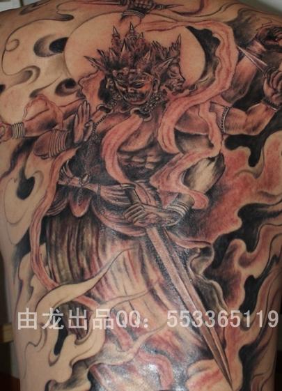 冥王纹身手臂手稿分享展示