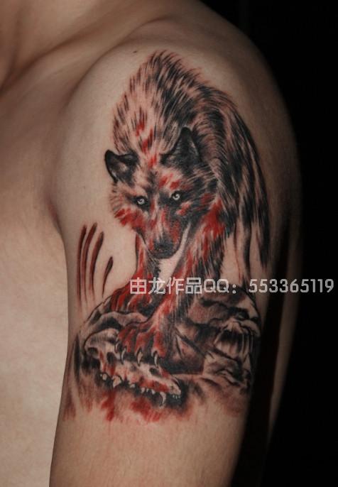九匹血狼纹身图案_九匹血狼纹身图案内容图片分享